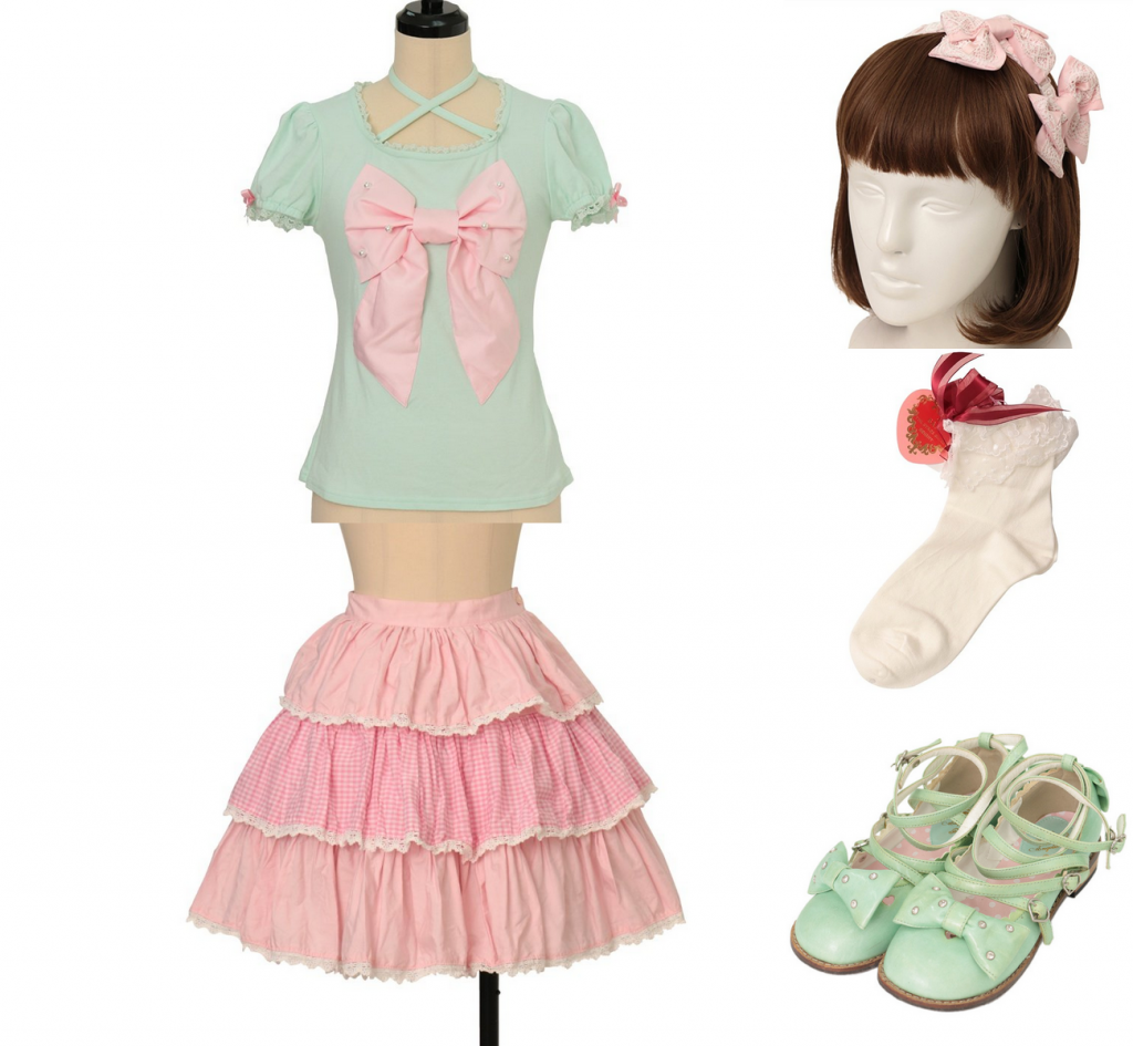 summer coord for Sweet lolita