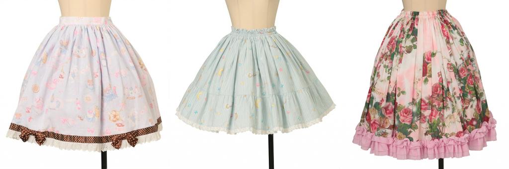 regular waist skirts