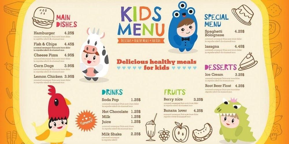 菜單設計的專業服務