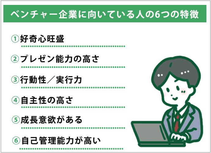 ベンチャー企業に向いている人の6つの特徴