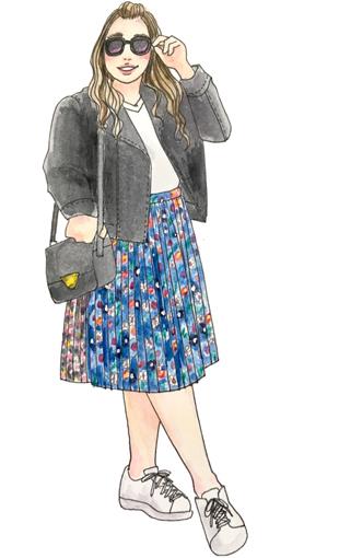 おしゃれな海外ぽっちゃりさんに学ぶ!秋冬ファッションのツボ ライダースコーデ