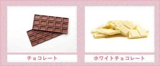 チョコレートとホワイトチョコレート太りにくいのは?