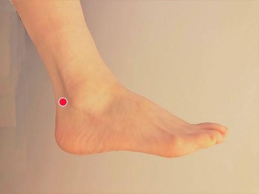 崑崙(こんろん) 坐骨神経痛が足の後ろに起きてしまったときに有効なツボ