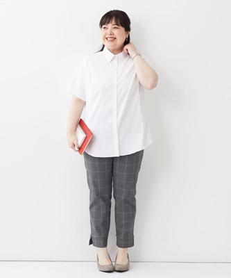 アンクル丈パンツ ぽっちゃりさんの夏のオフィスカジュアル