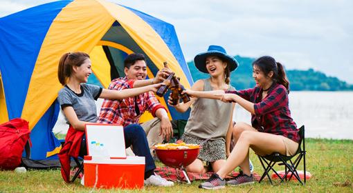 ぽっちゃりさん・プラスサイズ 夏のアウトドアコーディネート(バーベキュー・フェス・キャンプ)