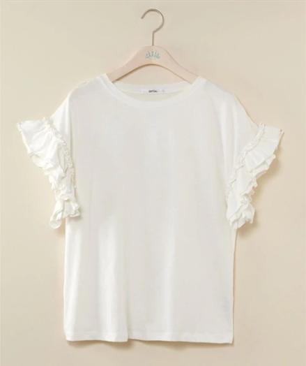 袖のデザインを踏まえる ぽっちゃりさんにおすすめのTシャツコーデのコツ
