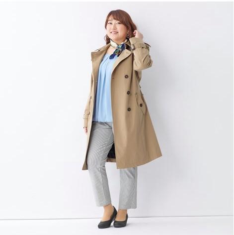 日本製9分丈360°のびテーパードパンツ ぽっちゃりさんにおすすめの秋コーデ・アイテム