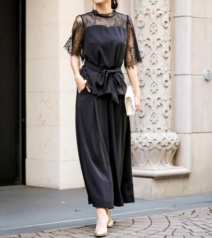 ウエストリボンパンツドレス グラマーさんにおすすめのドレス
