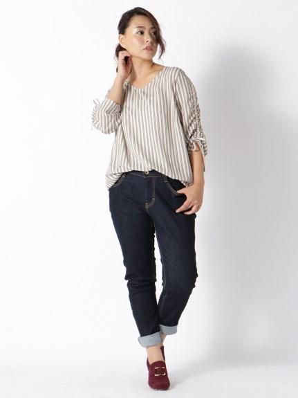 ストレッチ素材スキニ―パンツ ぽっちゃりさんのスキニーパンツの着こなしのコツ