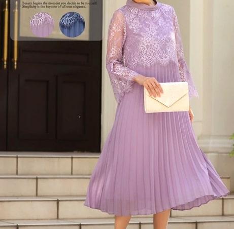 ベル袖のデザインのドレス ぽっちゃりさんにおすすめのフォーマル・パーティードレス 20代にオススメ