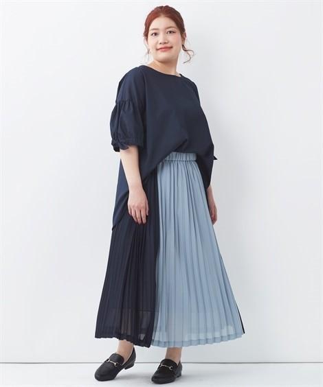 ぽっちゃりさん向けシアーロングスカート01