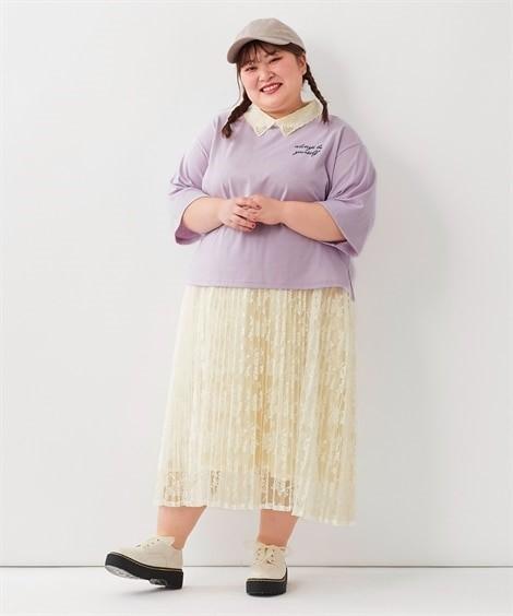 ぽっちゃりさん向けシアーロングスカート02