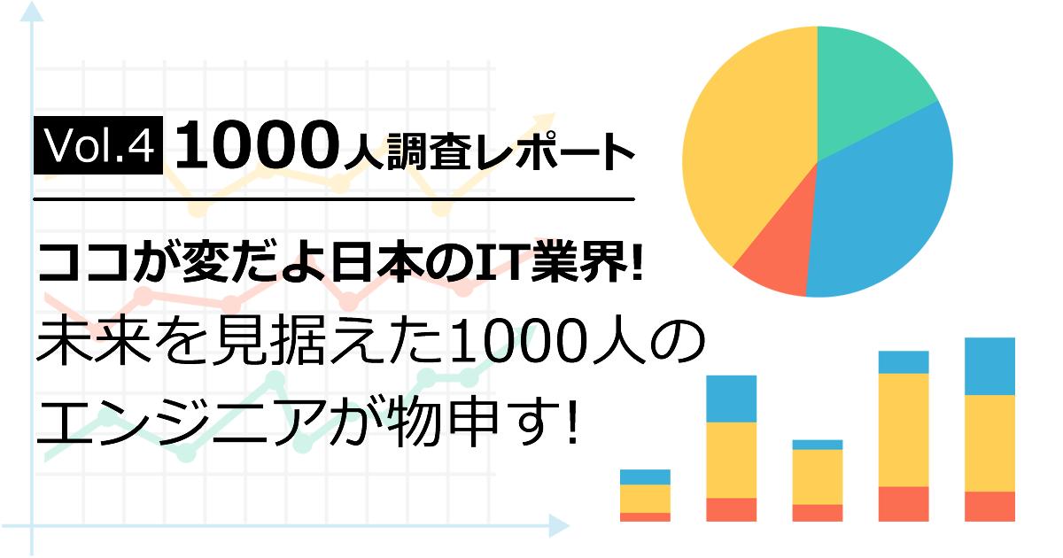 IT/Webエンジニア1000人調査レポート Vol.4