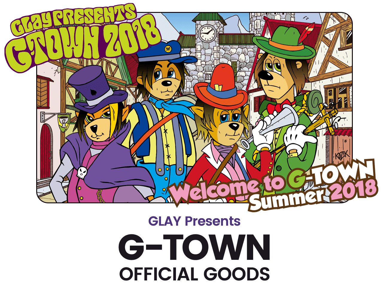 GLAY presents G-TOWN OFFICIAL GOODS