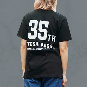 TOSHI NAGAI 35th PROJECTS Tシャツ(黒)