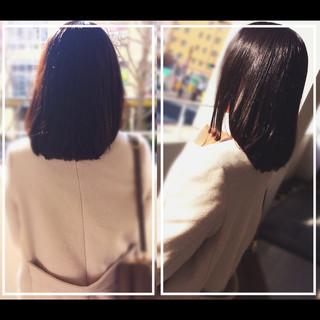 髪質改善 艶髪 ナチュラル 髪質改善トリートメント ヘアスタイルや髪型の写真・画像