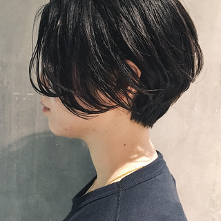 ハンサム ショート ナチュラル パーマ ヘアスタイルや髪型の写真・画像