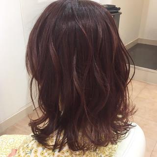 春スタイル 春ヘア セミロング フェミニン ヘアスタイルや髪型の写真・画像