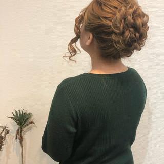 フェミニン アップ ロング ヘアアレンジ ヘアスタイルや髪型の写真・画像