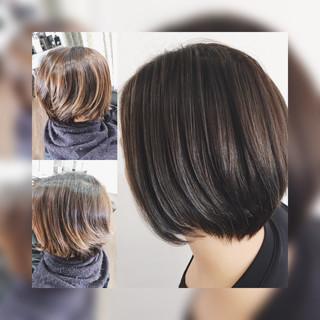 ショートヘア 3Dハイライト ベリーショート コンサバ ヘアスタイルや髪型の写真・画像