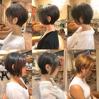 デート ショート ナチュラル 簡単スタイリング ヘアスタイルや髪型の写真・画像