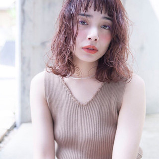 アディクシーカラー 外国人風カラー ボブ ナチュラル ヘアスタイルや髪型の写真・画像