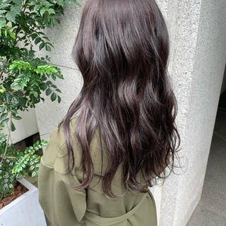 ラベンダー ラベンダーアッシュ フェミニン ラベンダーピンク ヘアスタイルや髪型の写真・画像