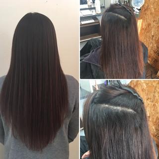 縮毛矯正 ロング 髪質改善 最新トリートメント ヘアスタイルや髪型の写真・画像