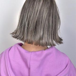 ハイライト 外国人風カラー バレイヤージュ グレージュ ヘアスタイルや髪型の写真・画像