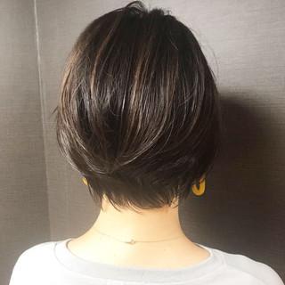 ショート 艶髪 小顔 ショートボブ ヘアスタイルや髪型の写真・画像