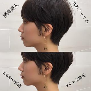 簡単ヘアアレンジ ショート マッシュショート ショートボブ ヘアスタイルや髪型の写真・画像