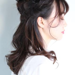 セミロング ナチュラル オフィス ヘアアレンジ ヘアスタイルや髪型の写真・画像 ヘアスタイルや髪型の写真・画像