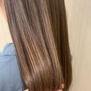 セミロング ハイライト オフィス ヘアアレンジ ヘアスタイルや髪型の写真・画像