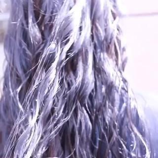 ロング ストリート ハイトーン バレイヤージュ ヘアスタイルや髪型の写真・画像