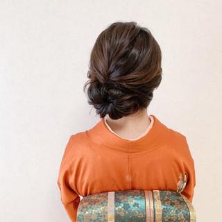 エレガント 結婚式 和装ヘア 着物 ヘアスタイルや髪型の写真・画像