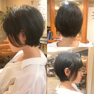 アイロンワーク 簡単ヘアアレンジ ショート デート ヘアスタイルや髪型の写真・画像