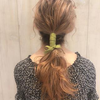 ミディアム オフィス デート フェミニン ヘアスタイルや髪型の写真・画像