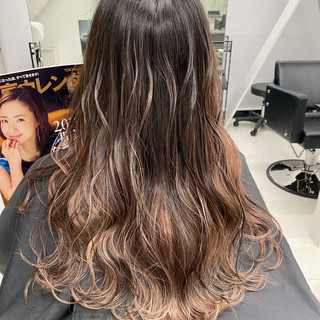 ロング モテ髪 ピンクブラウン 春ヘア ヘアスタイルや髪型の写真・画像