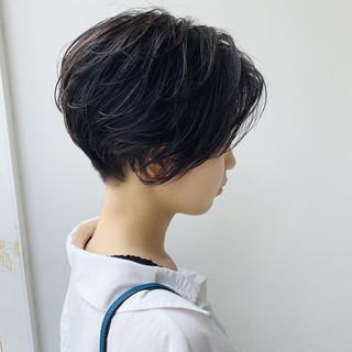 ベリーショート ショートヘア 無造作パーマ ショート ヘアスタイルや髪型の写真・画像