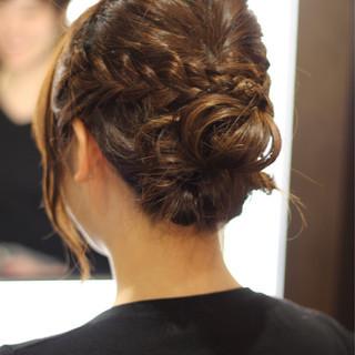 結婚式 簡単ヘアアレンジ ナチュラル セミロング ヘアスタイルや髪型の写真・画像 ヘアスタイルや髪型の写真・画像