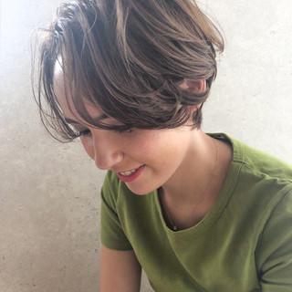インナーカラー ショート ショートヘア ショートボブ ヘアスタイルや髪型の写真・画像