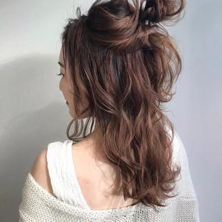 成人式 セミロング 結婚式 簡単ヘアアレンジ ヘアスタイルや髪型の写真・画像 ヘアスタイルや髪型の写真・画像