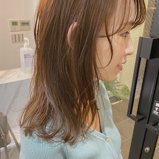 ミルクティー ブラウン ミルクティーベージュ ナチュラル ヘアスタイルや髪型の写真・画像