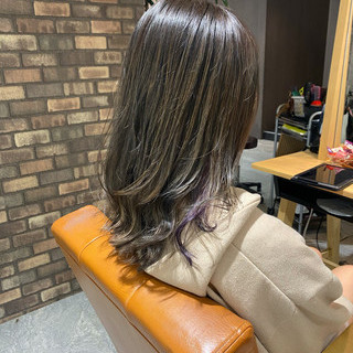 N.オイル ミディアム イルミナカラー インナーカラー ヘアスタイルや髪型の写真・画像