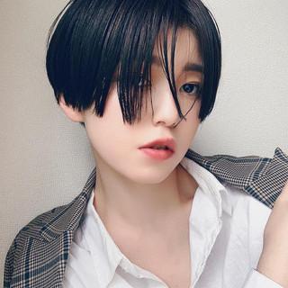 ハンサムショート モード メンズヘア ショート ヘアスタイルや髪型の写真・画像