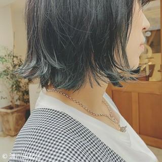 ボブ デート ナチュラル 秋冬スタイル ヘアスタイルや髪型の写真・画像