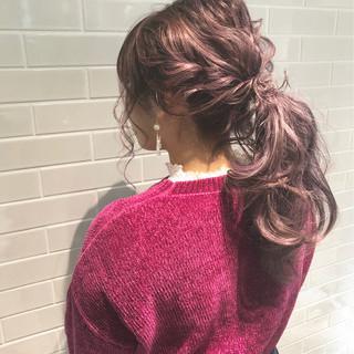 ポニーテール ヘアアレンジ ガーリー 大人かわいい ヘアスタイルや髪型の写真・画像 ヘアスタイルや髪型の写真・画像