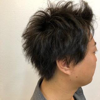 大人ハイライト メンズスタイル ショート デート ヘアスタイルや髪型の写真・画像