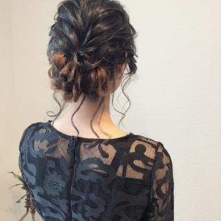 フェミニン アップ 結婚式 ヘアセット ヘアスタイルや髪型の写真・画像