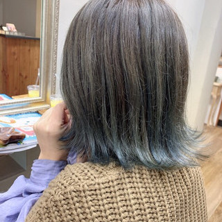 インナーカラー ベリーショート ストリート スモーキーアッシュベージュ ヘアスタイルや髪型の写真・画像